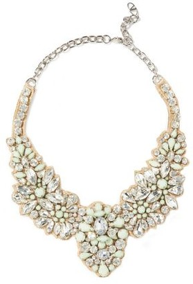 Valentino Crystal Stone And Satin Necklace