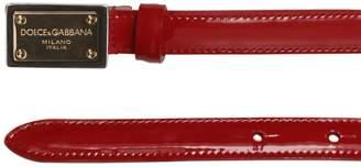 at Luisaviaroma · Dolce   Gabbana Patent Leather Logo Belt cc791a136b