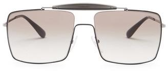 MIU MIU Men's Caravan Square Metal Frame Sunglasses $360 thestylecure.com