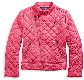 Ralph Lauren Girl's Quilted Biker Jacket