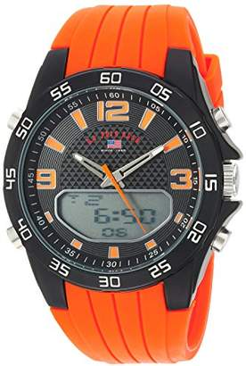 U.S. Polo Assn. Men's Quartz Metal and Silicone Casual Watch