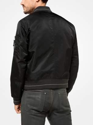 Michael Kors Sateen Bomber Jacket