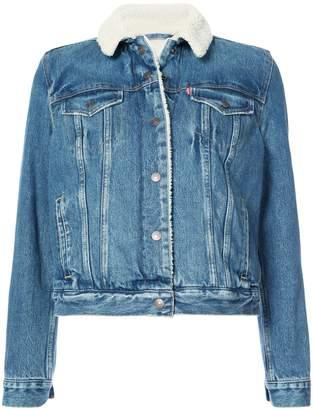 Levi's shearling denim jacket