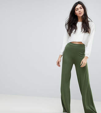 Asos Tall TALL Basic Jersey Wide Leg Pants