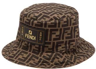 Fendi Ff Print Cotton Bucket Hat - Mens - Brown Multi 2849e433211