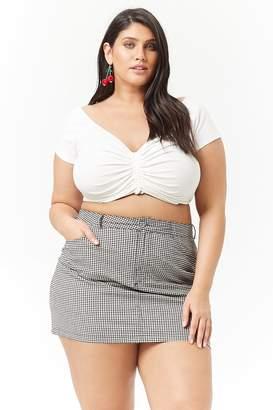 Forever 21 Plus Size Gingham Mini Skirt