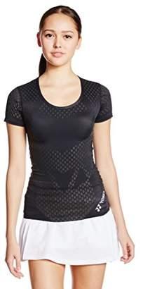 Yonex (ヨネックス) - (ヨネックス) YONEX テニス・バトミントンウェア Uネック半袖シャツ STBA1506 [レディース] STBA1506 007 ブラック M
