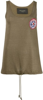 Mr & Mrs Italy embroidered tank top