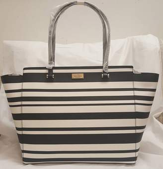 Kate Spade new york WKRU4052 181 Annelle Arbour Hill Printed Striped Tote Bag