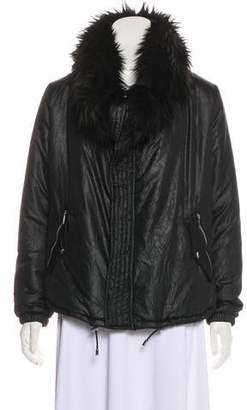 Michael Kors Faux-Fur Trimmed Lightweight Jacket