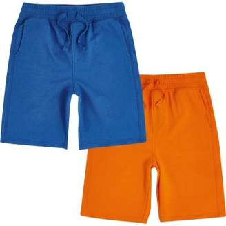 River Island Boys blue and orange jersey shorts