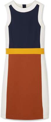 Tory Burch Mya Color-block Stretch-jersey Dress - Brick