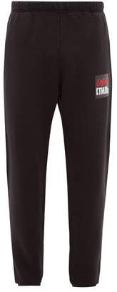 Heron Preston Applique Slim Fit Track Pants - Mens - Black Multi