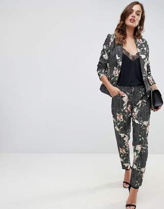 19ccd57fb7f Paper Dolls floral check pants two-piece in multi color