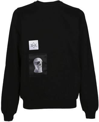 Drkshdw Rick Owens Patch Detail Sweatshirt