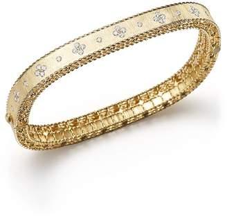 Roberto Coin 18K Yellow Gold and Diamond Princess Bangle
