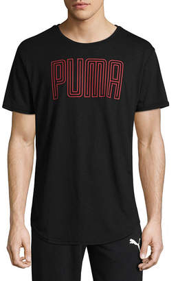 Puma Dri Release Graphic Short Sleeve Crew Neck T-Shirt