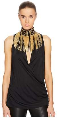 Versace Donna Jersey Sleeveless Top
