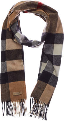 Burberry The Large Classic Check Cashmere Scarf