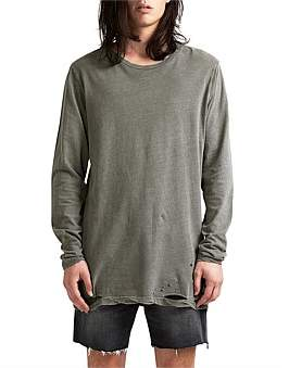 Ksubi Sioux Faded Army Ls Tee