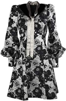 Marc Jacobs (マーク ジェイコブス) - Marc Jacobs Metallic-flowers Silk-blend Mini Dress