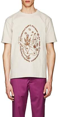 Acne Studios Men's Bemabe Moose Embroidered Cotton T-Shirt
