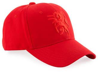 Philip Treacy Baseball Cap w/ Embroidered Logo
