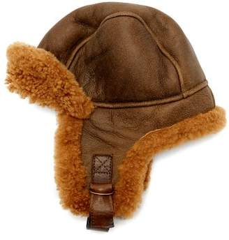 Isabel Marant Airy Shearling Aviator Hat - Womens - Brown