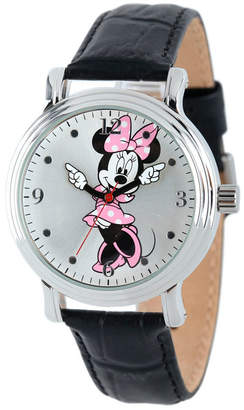 EWatchFactory Disney Minnie Mouse Women Shiny Silver Vintage Alloy Watch