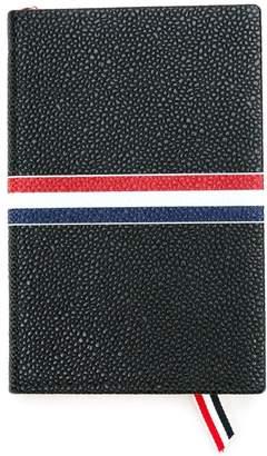 Thom Browne ラージノートブック R/W/B グログラン ブラック ペブルグレインレザー