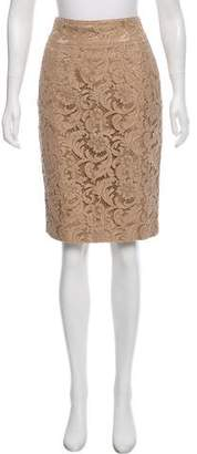 Burberry Lace Knee-Length Skirt