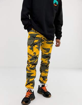 Sixth June cargo trousers in yellow camo