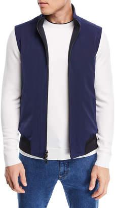 Zip-Front Knit Vest