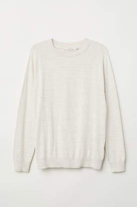 H&M Cotton Raglan-sleeved Sweater - White