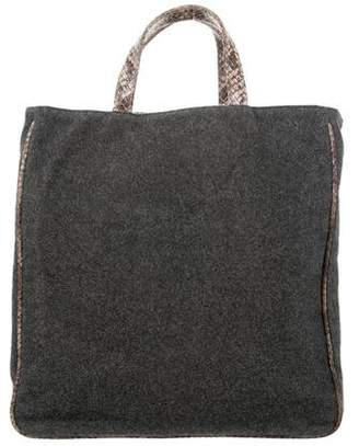 MZ Wallace Embossed-Trimmed Felt Tote