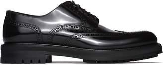 Dolce & Gabbana Altavilla Derby Shoes In Black Spazzolato