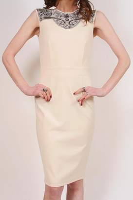 Little Mistress Cream Cocktail Dress