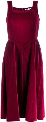 Batsheva velvet flared dress
