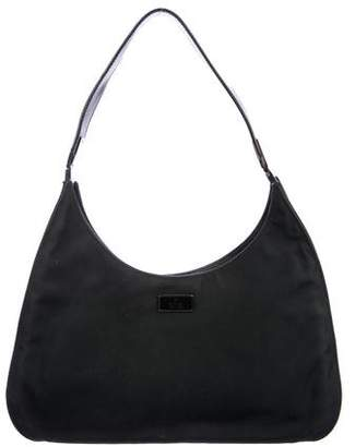 Gucci Leather-Trimmed Nylon Hobo