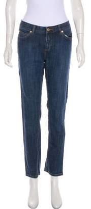 MICHAEL Michael Kors Mid-Rise Straight-Leg Jeans