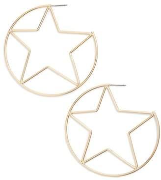 Rebecca Minkoff Large Star Hoop Earrings