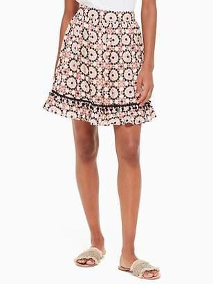 Kate Spade Floral mosaic chiffon skirt