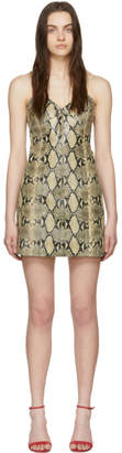 Gucci Beige Python Mini Dress