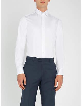 Duchamp Floral-trimmed slim-fit cotton shirt