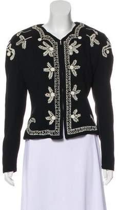 Norma Kamali Embroidered Long Sleeve Jacket