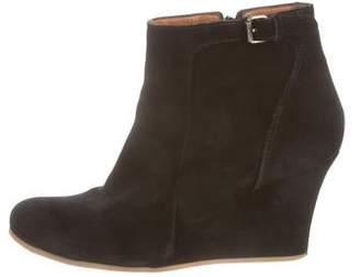 38fefdaad9e6 Lanvin Wedge Boots - ShopStyle