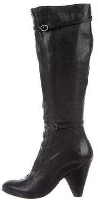 Barneys New York Barney's New York Leather Mid-Calf Boots