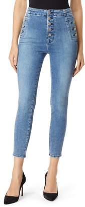 J Brand Natasha Sky High Crop Super Skinny Jeans
