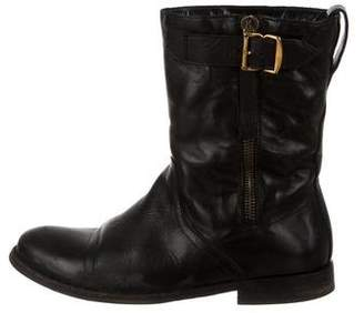 Burberry Round-Toe Mid-Calf Boots