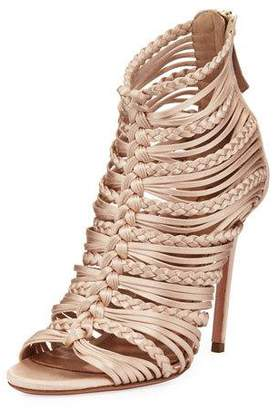 Aquazzura Goddess Strappy Satin Sandals